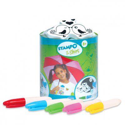 ALADINE STAMPO T-SHIRT  - Комплект печати + тампон + маркери за текстил 05305