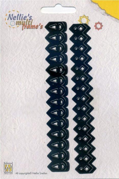 Nellie Snellen, Multi Frame`s -Орнаментни бордюрни щанци за рязане и релеф, 2 бр. MFD019