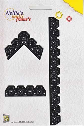 Nellie Snellen, Multi Frame`s -Орнаментни комбинирани щанци за рязане и релеф, 3 бр. MFD036