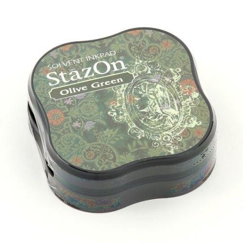 StazOn MIDI - Тампон за всякаква твърда или гланцирана повърхност - Olive Green