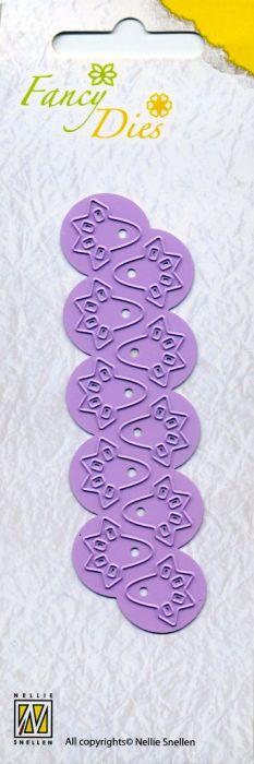 Nellie Snellen, Fancy Dies - Комбинирани орнаментни щанци за рязане и релеф, 10 бр. FD006