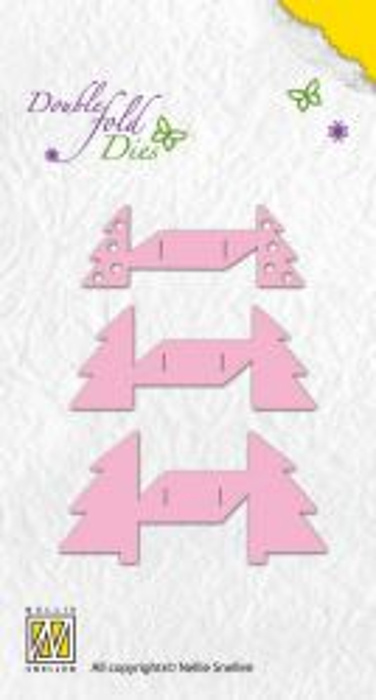 Nellie Snellen, Double Fold Dies - Щанци/3Д ефект/ за рязане, 3 бр. DFD010