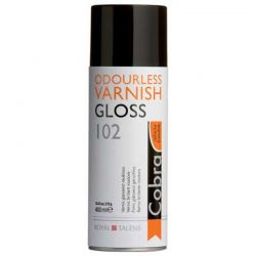 SPRAY TALENS COBRA VARNISH GLOSS - Краен лак за водоразтворими маслени бои ГЛАНЦ 400мл спрей