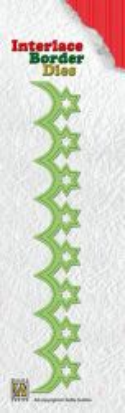 Nellie Snellen, Interlace Border Dies - 3Д щанца за рязане `Безконечен Бордюр`, ILD008