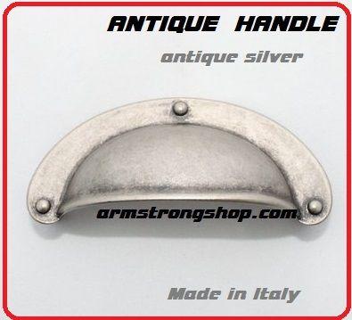 ANTIQUE HANDLE - Метална дръжка за чекмедже ANT SILVER