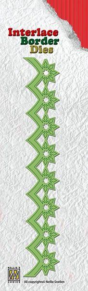 Nellie Snellen, Interlace Border Dies - 3Д щанца за рязане `Безконечен Бордюр`, ILD006