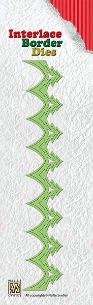 Nellie Snellen, Interlace Border Dies - 3Д щанца за рязане `Безконечен Бордюр`, ILD007