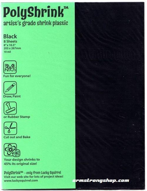 POLYSHRINK 203 x 267mm / 8 листа - ШРИНКПЛАСТМАСА BLACK