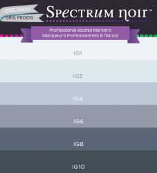 # Spectrum Noir COOL GREYS - Двувърхи дизайн маркери 6цв СТУДЕНО СИВА ГАМА