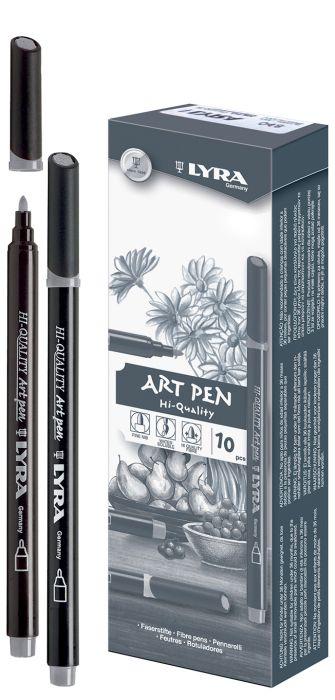 HI-QUALITY ART PEN - Висококачествен Art Pen с филцов връх - Студено сребърно сиво