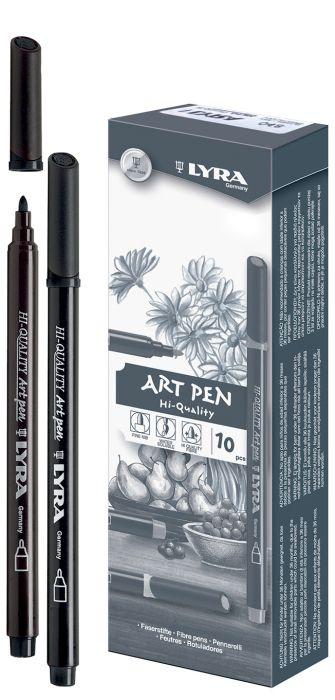 HI-QUALITY ART PEN - Висококачествен Art Pen с филцов връх - ЧЕРНО