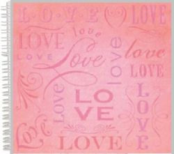 "ALBUM SCRAPBOOKING ""LOVE"" - Дизайнерски скрапбукинг албум 24 страници 30,5х30,5 см"
