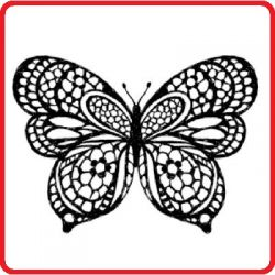 CLEAR STAMP -Дизайнерски  печат 10 х 10 см. BUTTERFLY