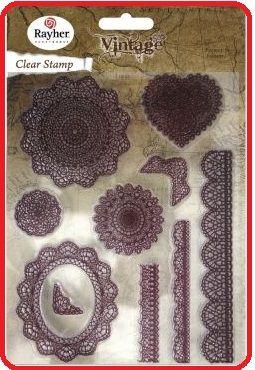RAYHER CLEAR STAMPS - Дизайнерска колекция печати -14.5Х18см.
