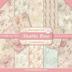"""STAMPERIA Double Face Sheets 10 Pack + 2free  - Дизайнерски блок 12""""x12"""" / SHABBY  ROSE"""