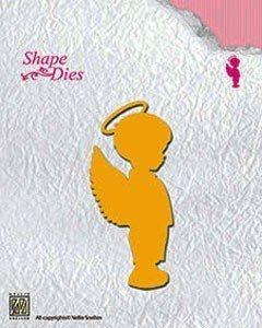 ANGEL by Nellie Snellen, Shape dies - Детайлен шаблон за рязане SD073