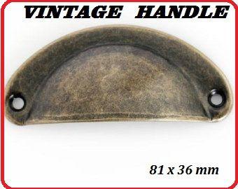 """ANTIQUE HANDLE """"VINTAGE"""" - Метална дръжка за чекмедже ANT BRONZE"""