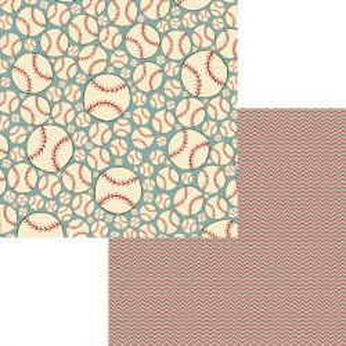FANCY PANTS USA # LITTLE SPORT -Дизайнерски скрапбукинг картон 30,5 х 30,5 см.