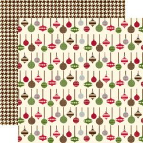 ECHO PARK USA # MERRY CHRISTMAS  - Дизайнерски скрапбукинг картон 30,5 х 30,5 см.