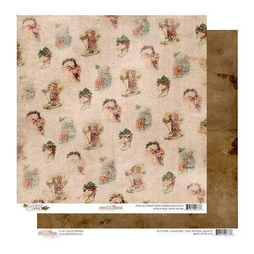 GLITZ DESIGN USA SANTA 12 X 12  - Дизайнерски скрапбукинг картон 30,5 х 30,5 см.