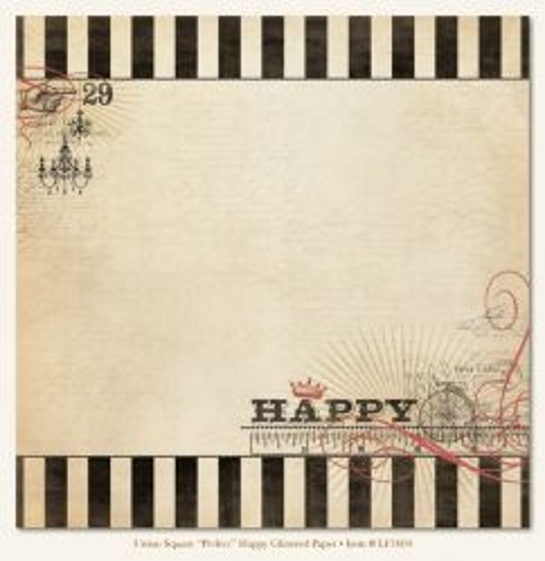 MMЕ USA HAPPY GLITERED 12 X 12  - Дизайнерски скрапбукинг картон 30,5 х 30,5 см.