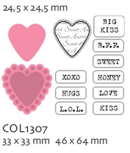 HEARTS by Marianne Design  - Шаблон за рязане и ембос + печати