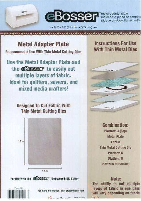 EBosser Metal Adapter Plate - Метален адаптор за автоматична машина за рязане