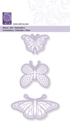 BUTTERFLIES # CART-US DIE 3x - Дизайн щанци