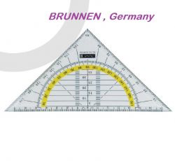 BRUNNEN SET SQUARE 16cm -  ТРИЪГЪЛНИК  / ТРАНСПОРТИР  16см