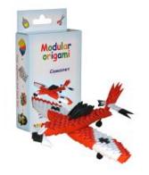 "Комплект Модулно оригами ""Червен самолет"""