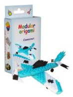 "Комплект Модулно оригами ""Син самолет"""