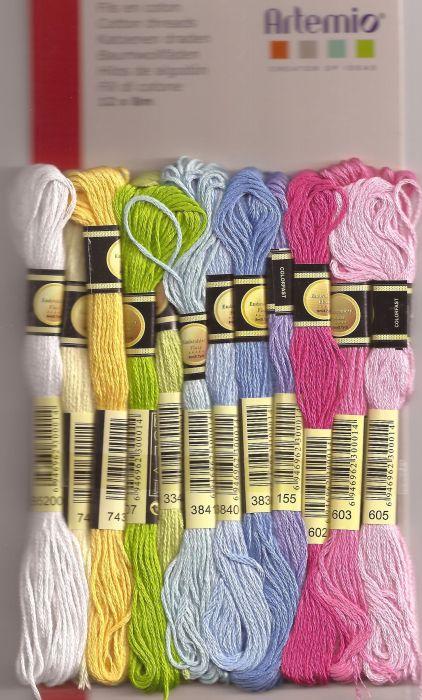 COTTON THREADS by Artemio - Комплект 12 чилета за бродерия и плетене  SWEET