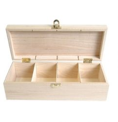 BOX by ARTEMIO TEA 2 -  Дървена кутия за чай и други със закопчалка