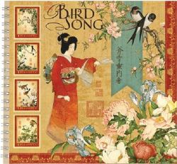 "ALBUM SCRAPBOOKING ""Bird Song"" - Дизайнерски скрапбукинг албум 36 страници 30,5х30,5 см"