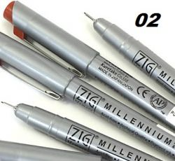 MULTILINER ZIG Japan - Профи пигментен тънкописец BROWN 02