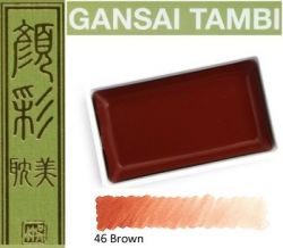 GANSAI TAMBI Watercolours , JAPAN - Екстра фин японски акварел BROWN  No 46