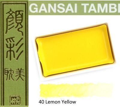 GANSAI TAMBI Watercolours , JAPAN - Екстра фин японски акварел LEMON YELLOW  No 40