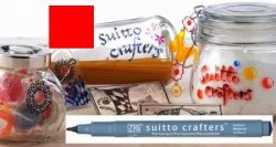 SUITTO CRAFTERS MEDIUM - Перманентен маркер Japan * RED