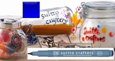 SUITTO CRAFTERS MEDIUM - Перманентен маркер Japan * BLUE