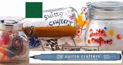 SUITTO CRAFTERS MEDIUM - Перманентен маркер Japan * GREEN