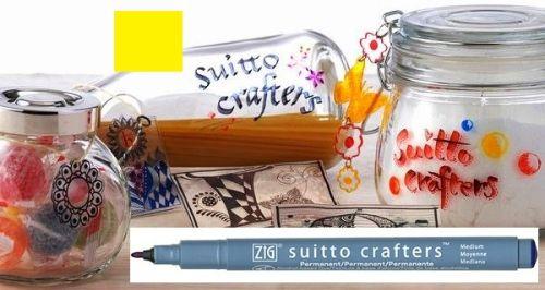 SUITTO CRAFTERS MEDIUM - Перманентен маркер Japan * YELLOW