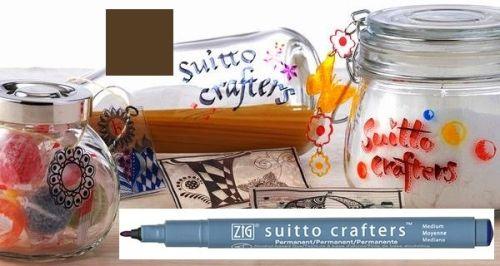 SUITTO CRAFTERS MEDIUM - Перманентен маркер Japan * BROWN