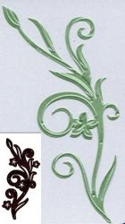 CRAFTS TOO Cutting Stencil - Дизайн щанца за рязане FLOWER & FLOURISH 6.8 x 15 cm