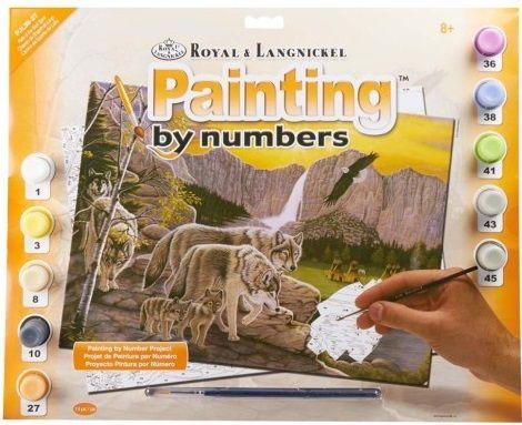 R&L USA #  PATH of the WOLF - Рисуване по номера  А3- * PJL38