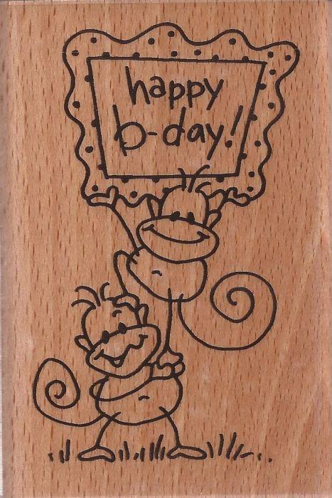 STAMPENDOUS, USA - HAPPY BIRTHDAY - Дизайнерски гумен печат 8.5 x 5см.