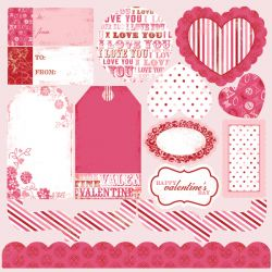 MME KISS & TELL ACCESSORIES SHEET - PRE-CUT елементи 30 X 30