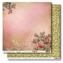 "SCRAPBERRY # BIRDS of PARADISE - FAIRY GARDEN 12X12"" 180g - Дизайнерски картон 30,5 х 30,5 см."