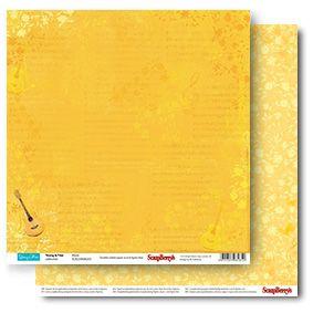 "SCRAPBERRY # YOUNG & FREE - MUSIC 12X12"" 190g - Дизайнерски картон 30,5 х 30,5 см."