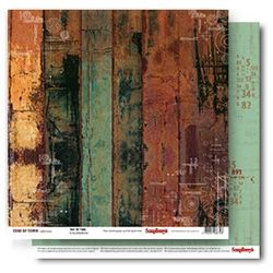 "SCRAPBERRY # EDGE OF TOWN - OUT of TIME 12X12"" 190g - Дизайнерски картон 30,5 х 30,5 см."