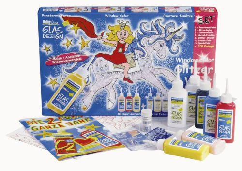 GLAS DESIGN GLITZER - Комплект за рисуване върху стъкло - 42844